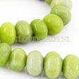 JADE GEMSTONES BEADS - BIG JADE RONDELLES 14X10MM